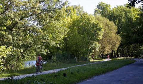 La voie douce à Saint-Brice