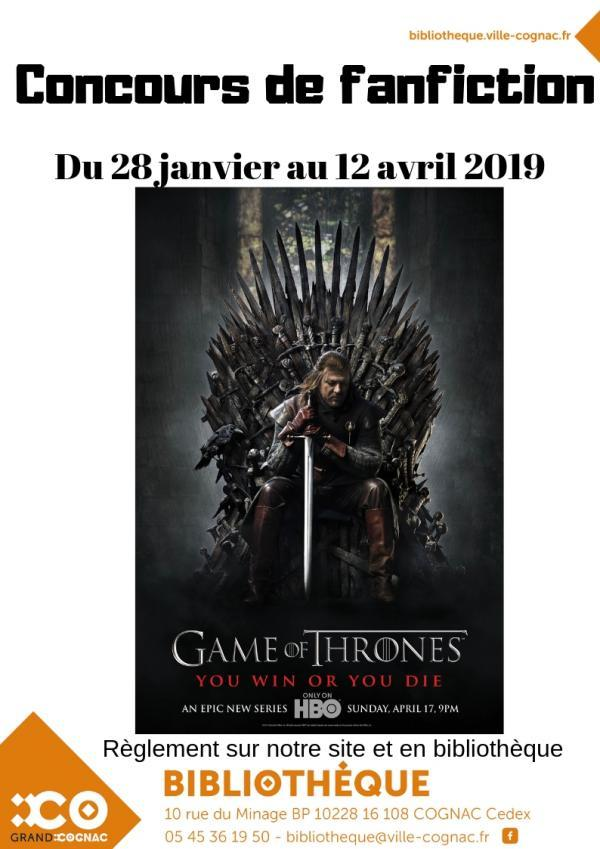 CONCOURS FANFICTION GAME OF THRONES